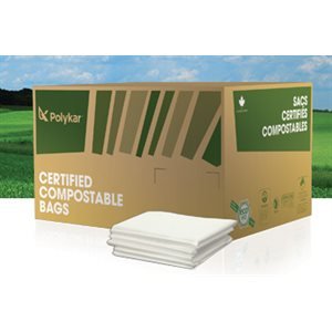 Compostable garbage bags 20 x 22 - 500 / cs