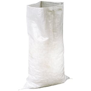 Bag polythene braided 23'' x 36'' white 100 / pk
