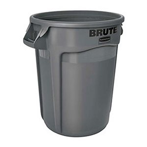 'Brute' 55gal round grey container