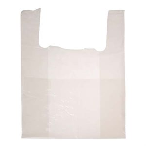 Jumbo white shoulder bag 16 x 8 x 28 - 1mil - 500 / cs