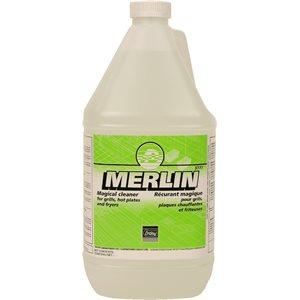 MERLIN - Récurant à grilloirs, plaques chauffantes et friteuses