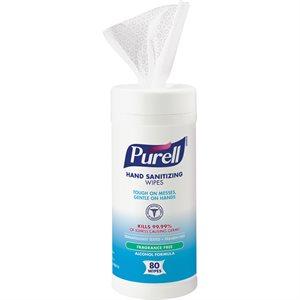 PURELL Sanitizing wipes 80 / pot