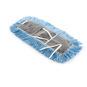 Dry dust mop blue Astrolene treeted with tie-on