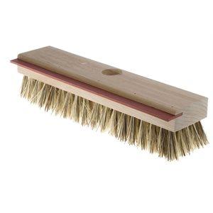 Brosse à récurer 11'' en fibres Union et racloir