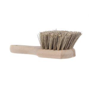 Brosse utilitaire manche de bois fibres 9po