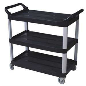 Black Small utility cart with open sides