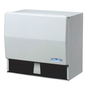 "Universal paper towel dispenser 10.5""x6.75""x9.5"" white metal"