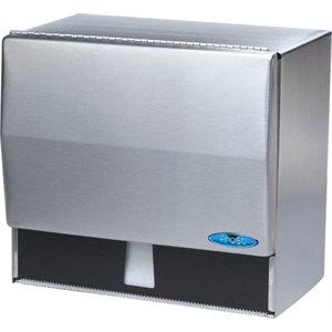 "Universal paper / towel disp.10.5""x6.75""x9.5"" stainless steel"