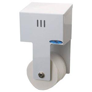 Distributrice à papier hygiénique simple métal blanc