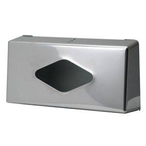 Facial tissue dispenser surface-mounted chrome