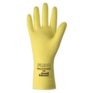 Economical yellow latex gloves