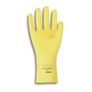 Quality latex gloves yellow