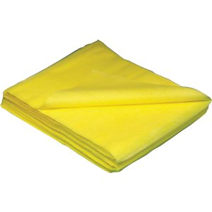 Yellow dusting cloth 10x / pk 50