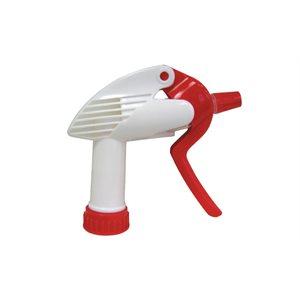 """Red / white plastic bottle sprayer 9""""-3 / 4"""