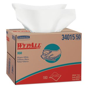 Essuie-tout blanc WYPALL x60 180f / bte
