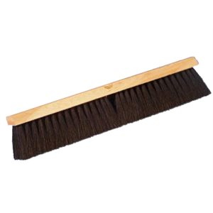 Pushbroom 24'' tampico black fibre