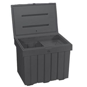 Gray plastic salt and sand bin 9' cube