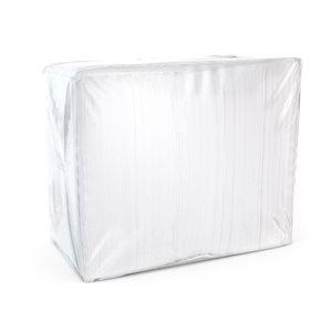 Serviettes de table blanc Sélect 1épaisseur - 334 / pqt - 18 / cs