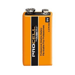PROCELL professionnal '9v' alkaline batteries 12 / box
