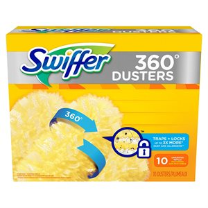 SWIFFER synthetic refills 360 degrees duster with febreze (10 / pk)