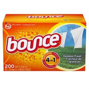 BOUNCE fabric softener sheets 200 / pk