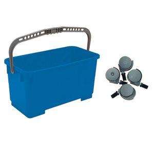 Seau 22 litres en plastique bleu