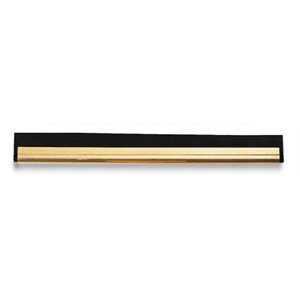 Brass window squeegee channel with rubber