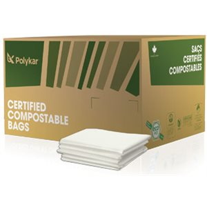 Compostable garbage bags 17 x 17 - 500 / cs
