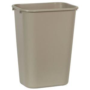 Rectangular wastebasket 10.25gal beige