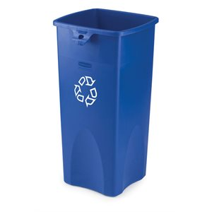 'Untouchable' recycling container 23gal blue