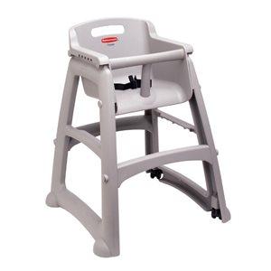 Chaise haute platine avec roulettes