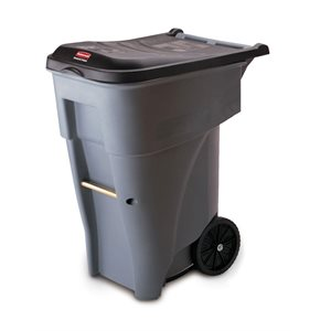 'Roll Out' Brute gray waste receptacle 64.75gal with wheels