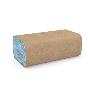 Tuff-Job™ Windshield Towels, 2-ply singlefold, Blue 12 / cs